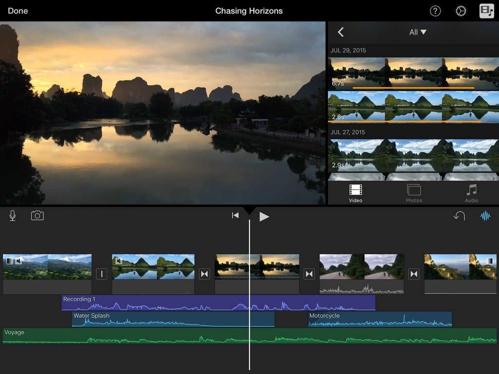 iMovie 2.2 - iPad-Screenshot