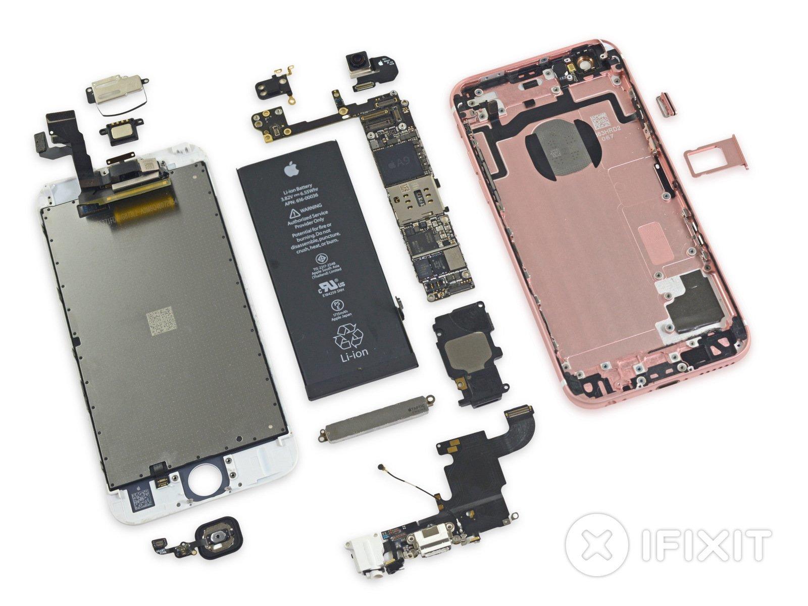 iPhone 6s auseinandergebaut
