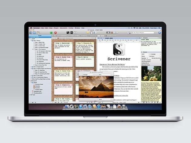 Scrivener auf einem MacBook