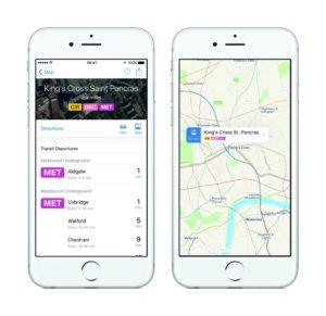 iOS 9 - Transit-Daten London