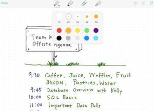 Evernote - Skizzen am iPad