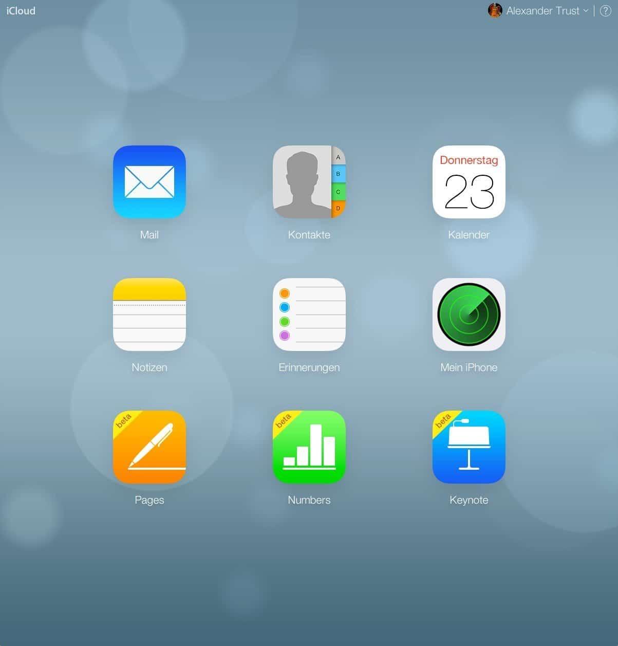 iCloud - Screenshot