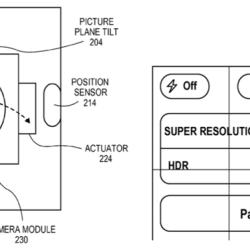 Patent zu Panoramafotos mittels optischer Bildstabilisation für Apple