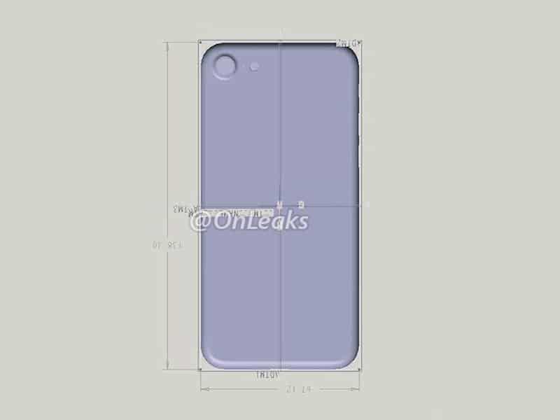 Renderbild von iPhone 7 zeigt gleiche Außenmaße wie Vorgängermodell