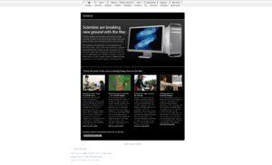 Alte Apple Webseite