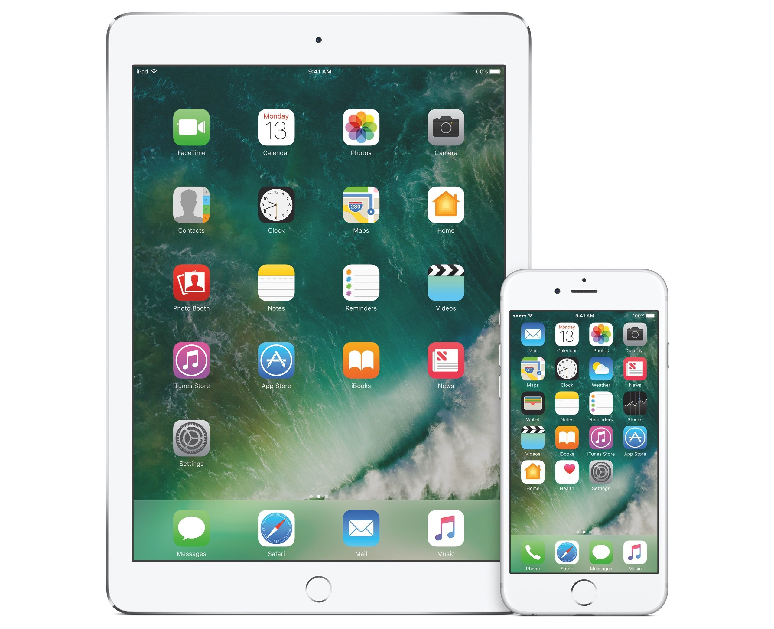 iOS 10 Home-Screen auf iPhone und iPad - Bild: Apple