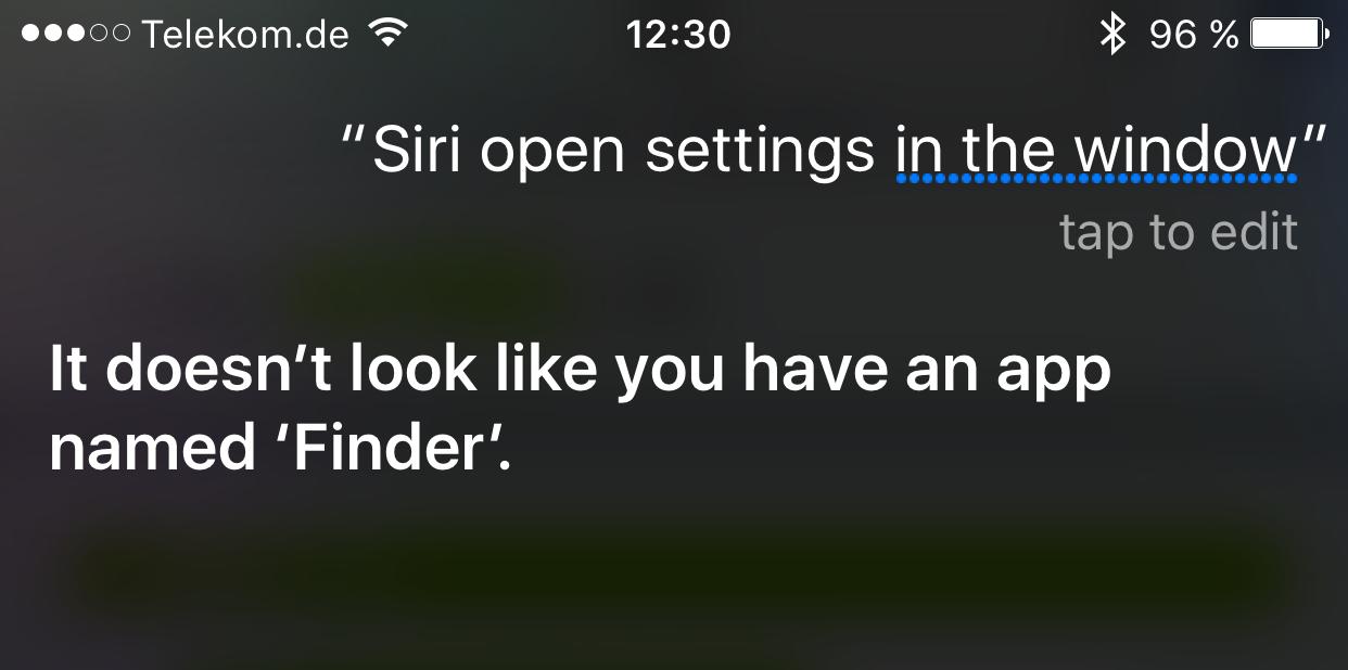 """Siri für iPhone erzählt vom """"Finder"""""""