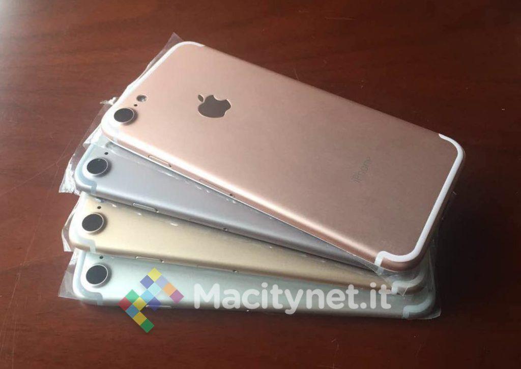iPhone 7 in verschiedenen Farben, Bild: Macitynet