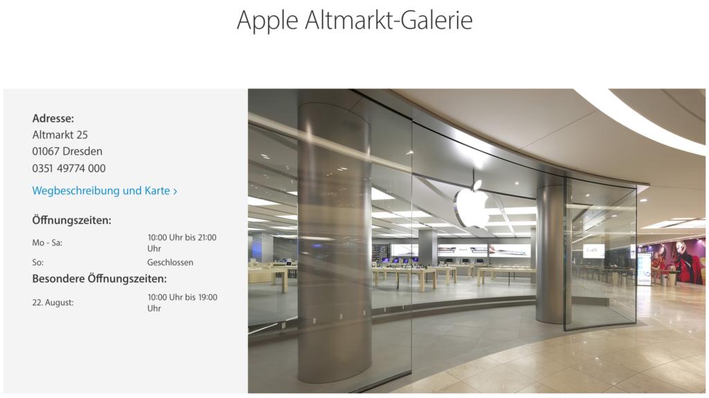 Neuer Name für den Apple Store in Dresden