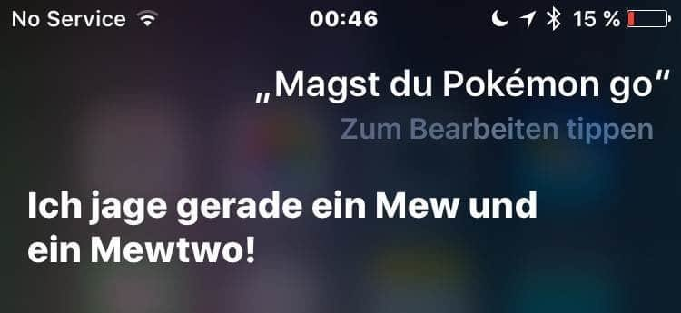 iPhone Siri Pokemon Go
