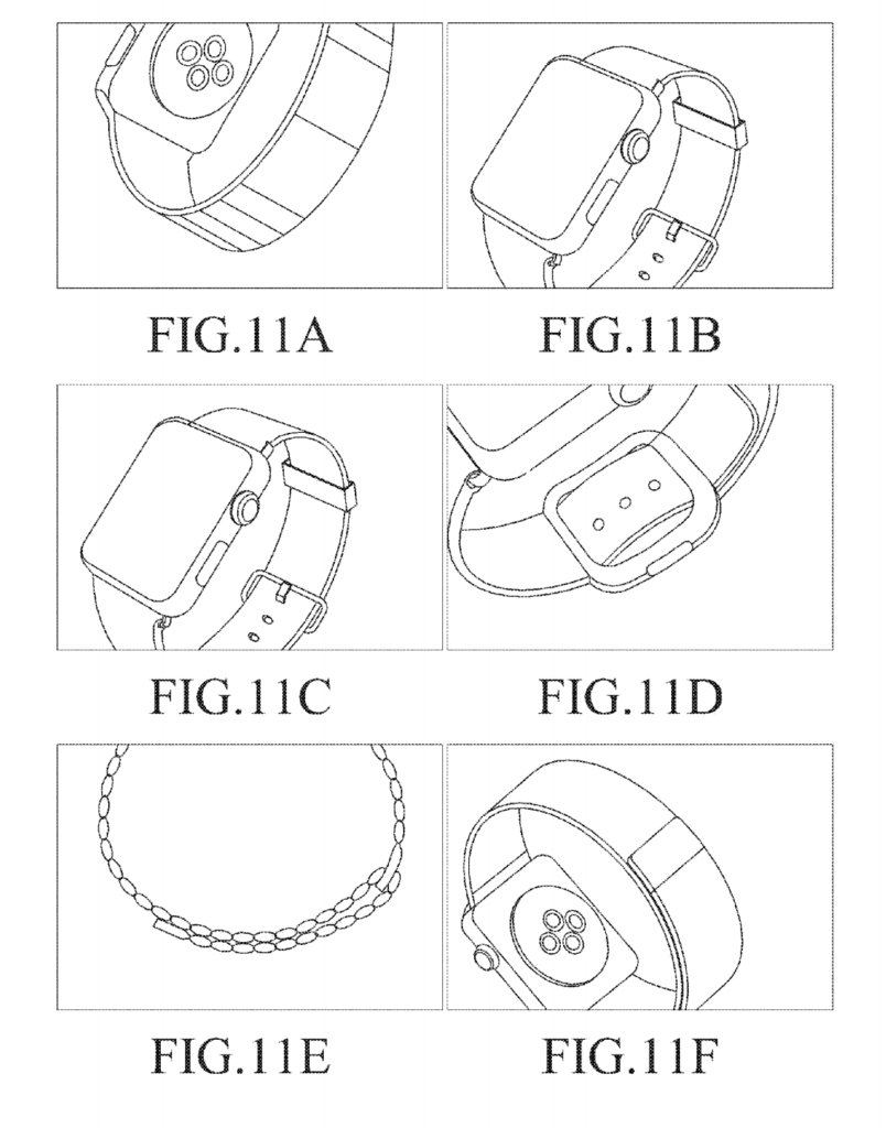 Apple Watch in Samsung-Patent, Bild: US-Patentamt/Samsung