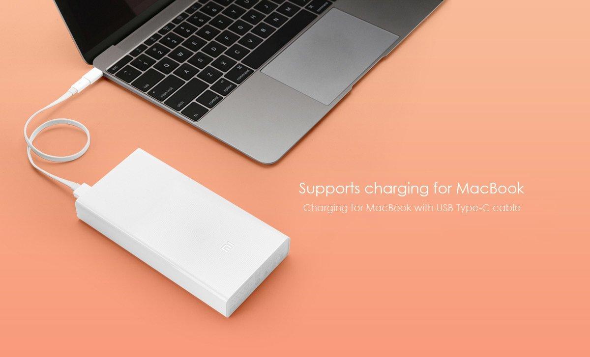 Powerbank lädt Mac