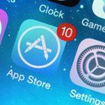 AppStore App auf einem iPhone mit 10 im roten Kreis