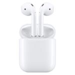 AirPods mit Case (geöffnet), Bild: Apple