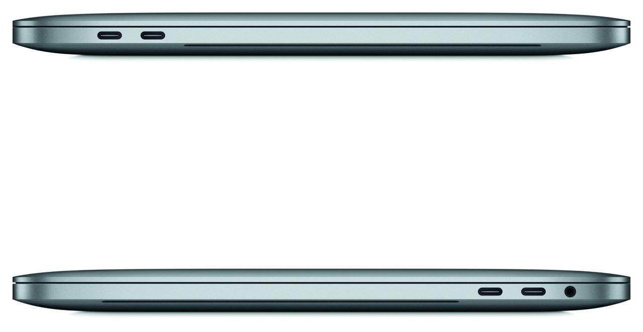 MacBook Pro 2016 (Seitenansichten, 4 USB-C-Anschlüsse) - Apple