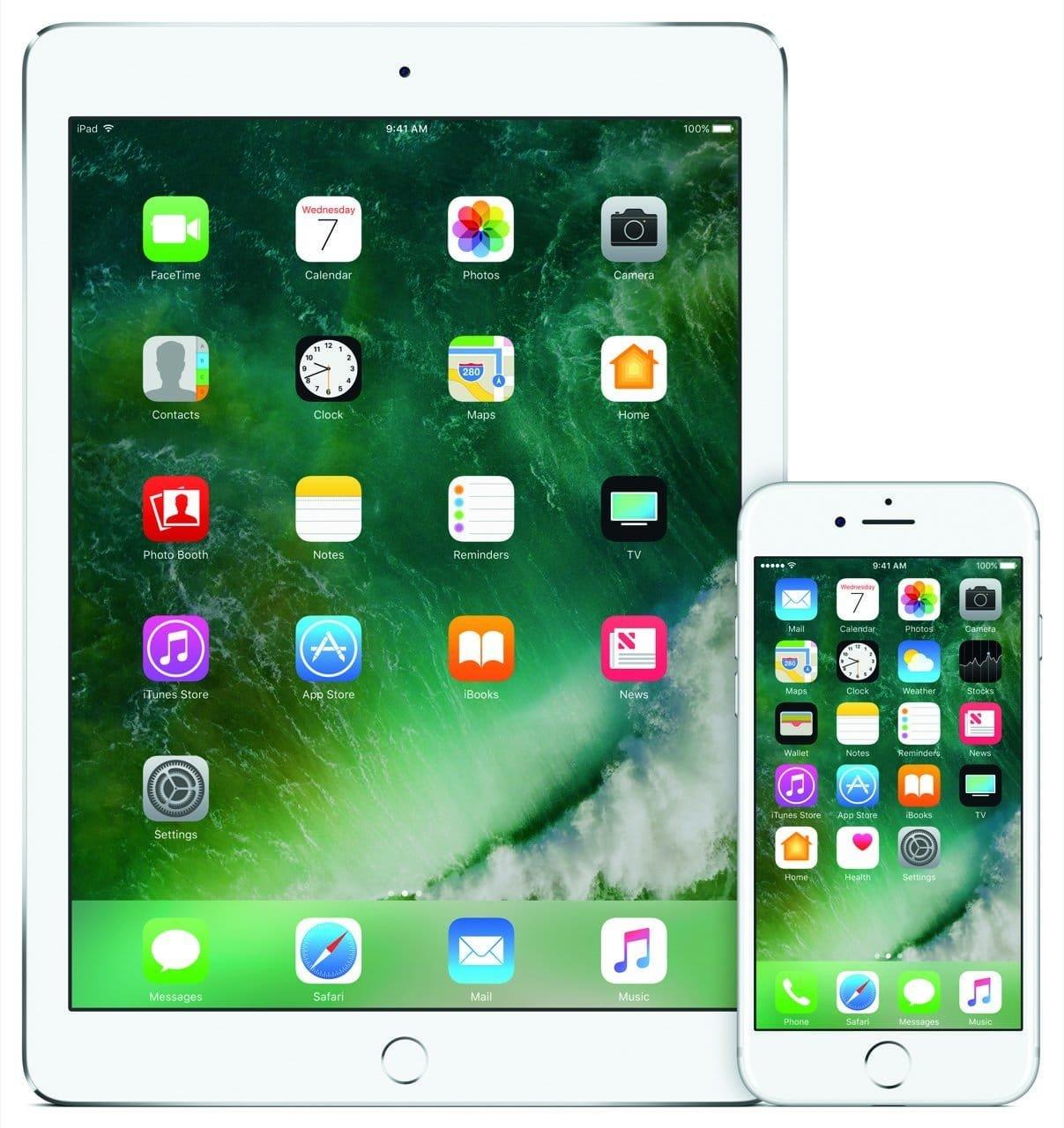 iOS Homescreen (iPad, iPhone) - Apple