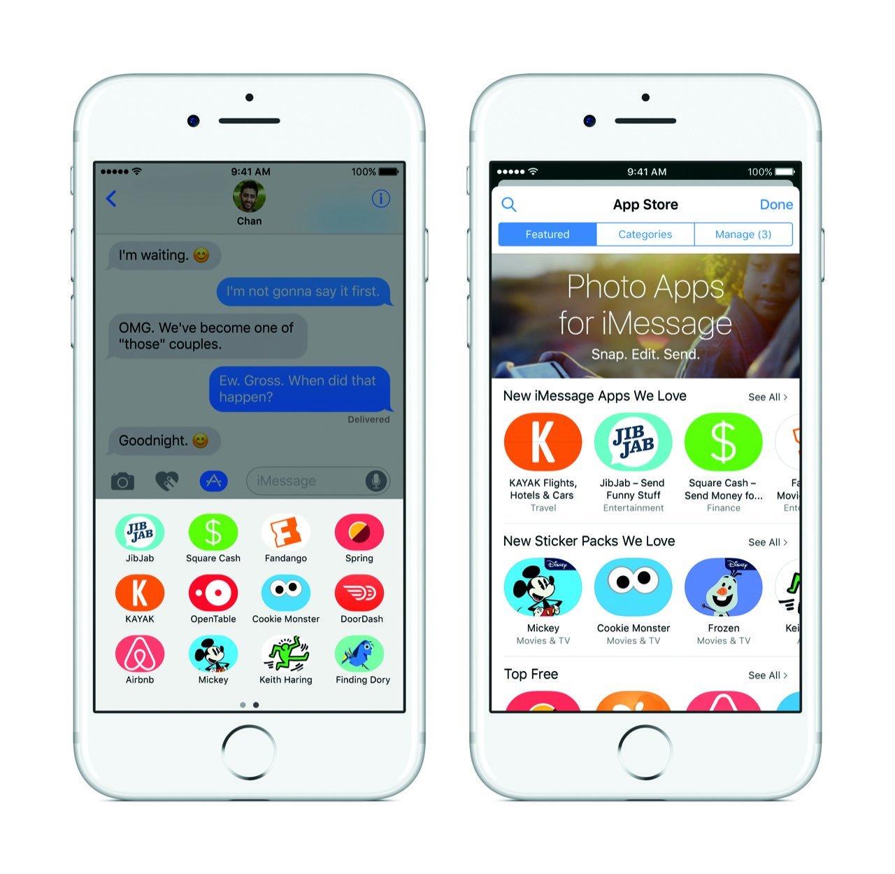 iOS iMessage App Store (iPhone 7)