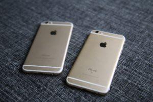 iPhone 6 gold neben iPhone 6S gold (Rückseiten)