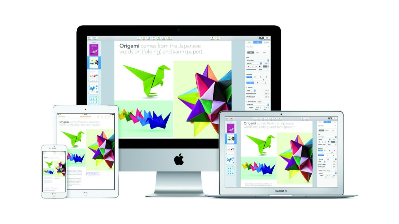 iWork Pages (iPhone, iPad, iMac, MacBook) - Apple