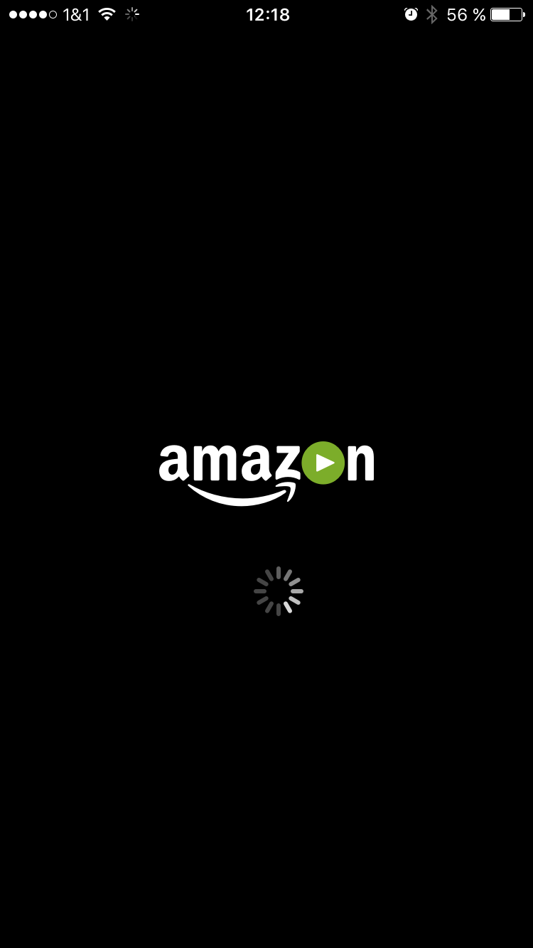 Amazon Prime Video App (Startbildschirm) - Screenshot