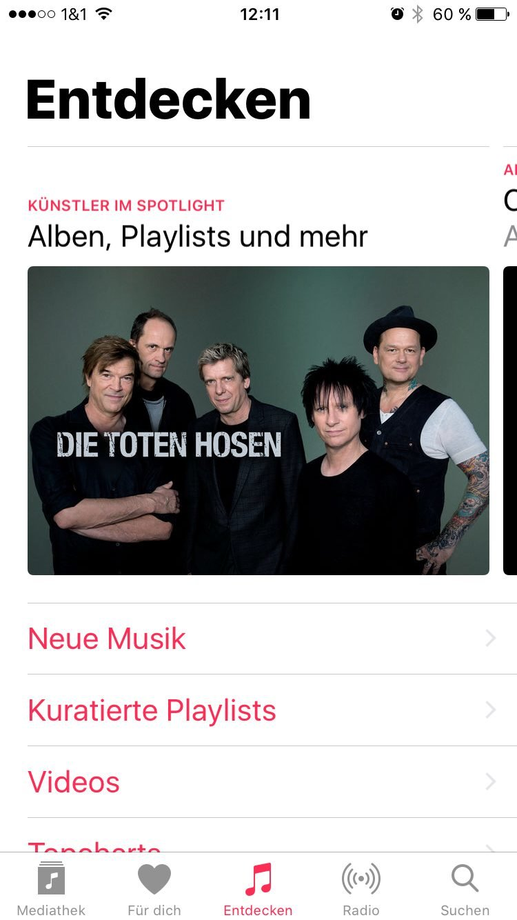 Apple Music (Entdecken) - Screenshot