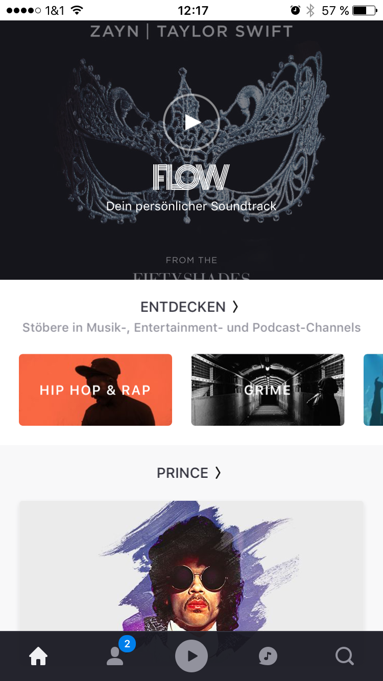 Deezer App (Entdecken) - Screenshot