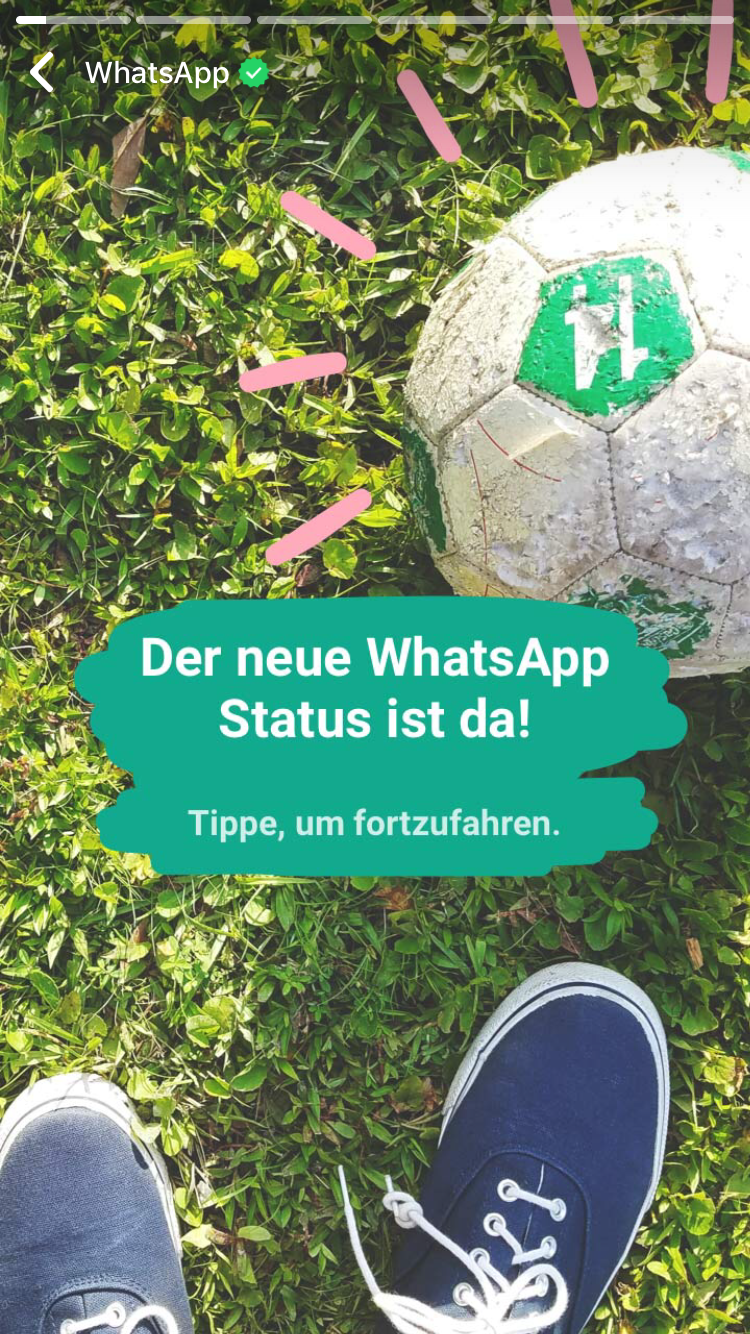 WhatsApp Status (Beispiel) - Screenshot