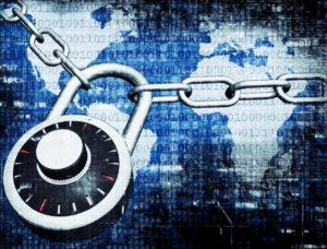 Sicherheit - Schloss mit binären Zahlen - Symbolbild