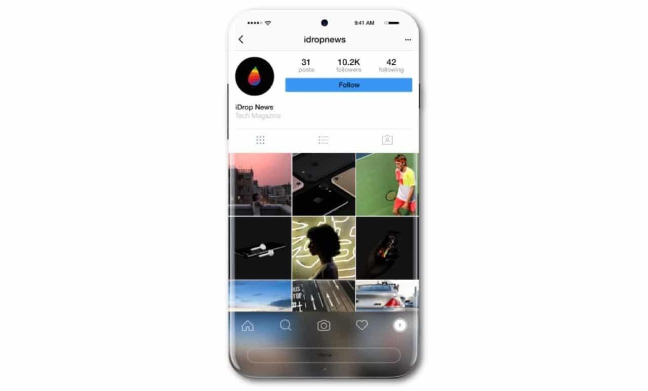 iPhone 8 Konzept - Diamantweiß (Photo iDropNews) / cultofmac.com
