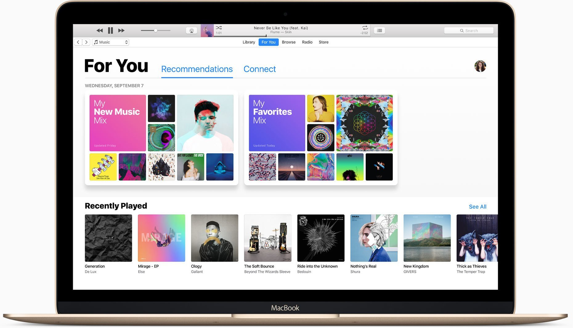 iTunes in macOS Sierra, Bild: Apple