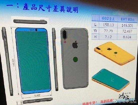 iPhone 8 / iPhone Edition - Technische Zeichnung
