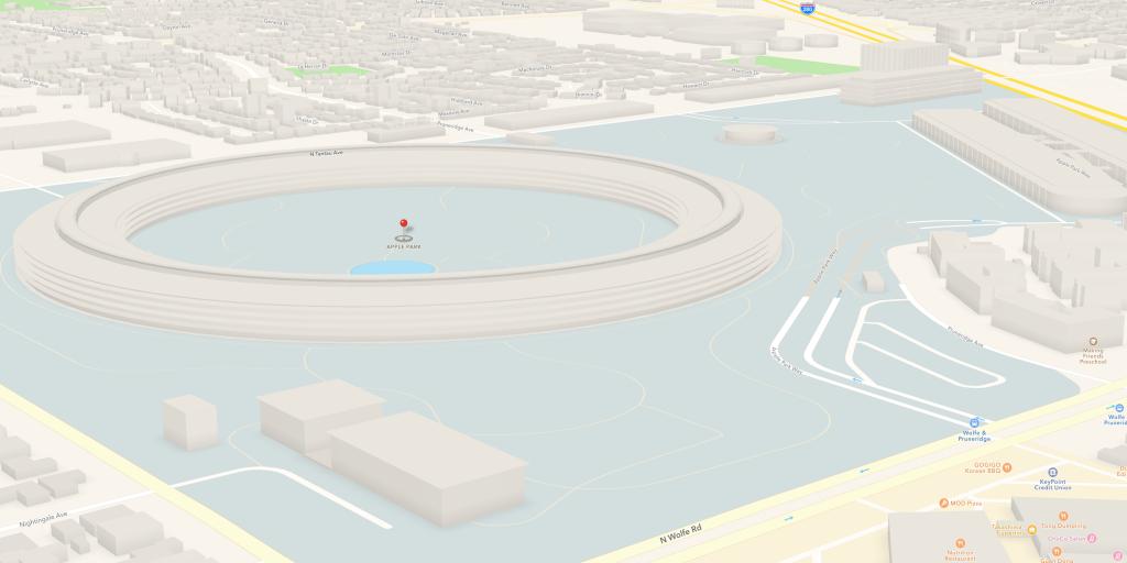 3D-Modell des Apple Park