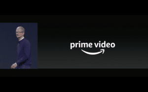 Apple TV Amazon Prime Video (Tim Cook) - Screenshot Keynote