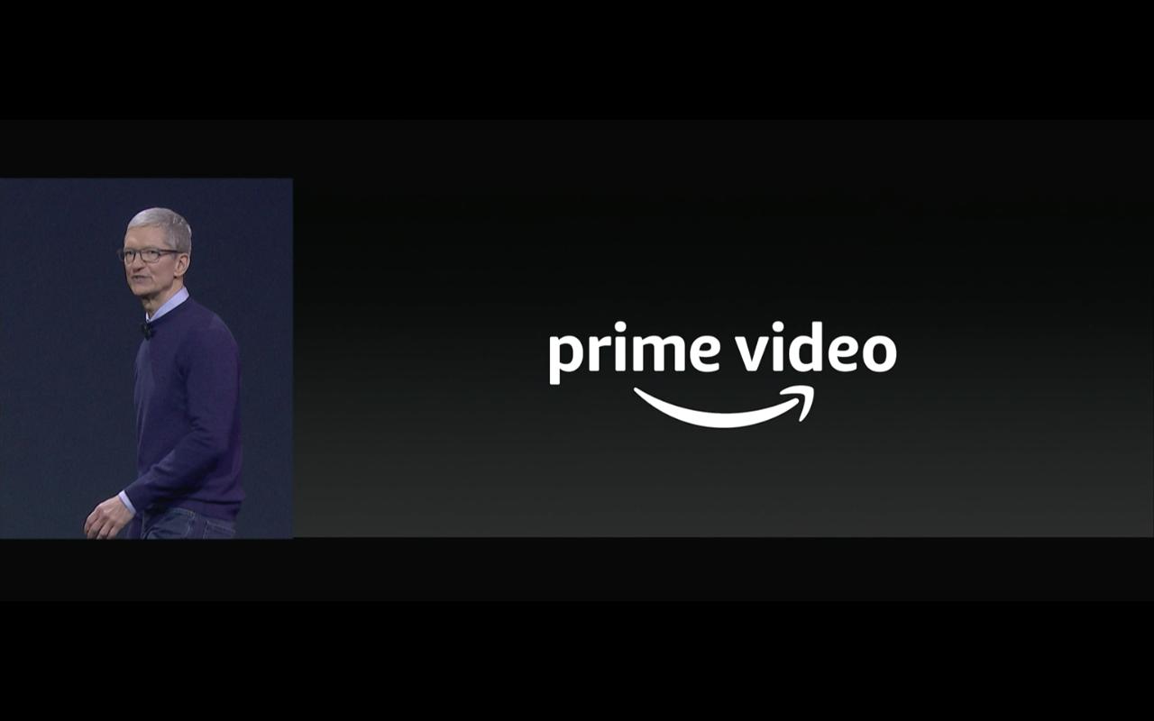Apple TV Amazon Prime Video (Tim Cook) - Screenshot Keynote