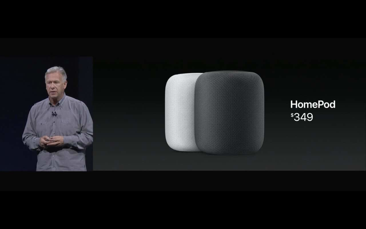 WWDC 2017 - HomePod mit Preis / Phil Schiller - Screenshot - WakeUp Media