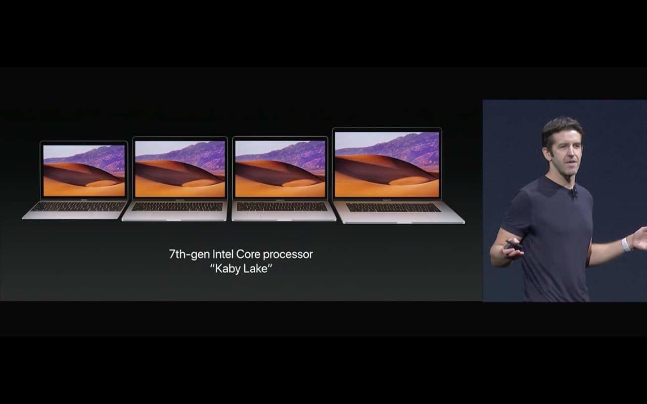 MacBook Pros (Kaby Lake) - Screenshot Keynote