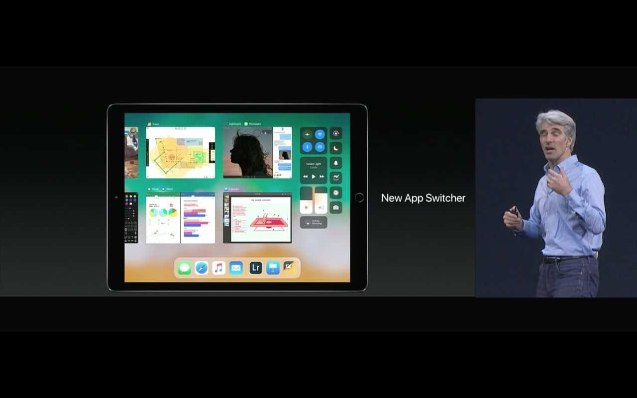 WWDC 2017 - iPad unter iOS 11 App-Switcher - Screenshot - WakeUp Media