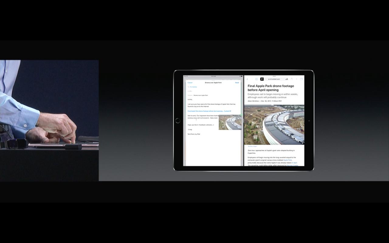 WWDC 2017 - Drag & Drop am iPad unter iOs 11 - Screenshot - WakeUp Media