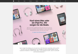 Back to School-Promo 2017 in Deutschland, Bild: Screenshot