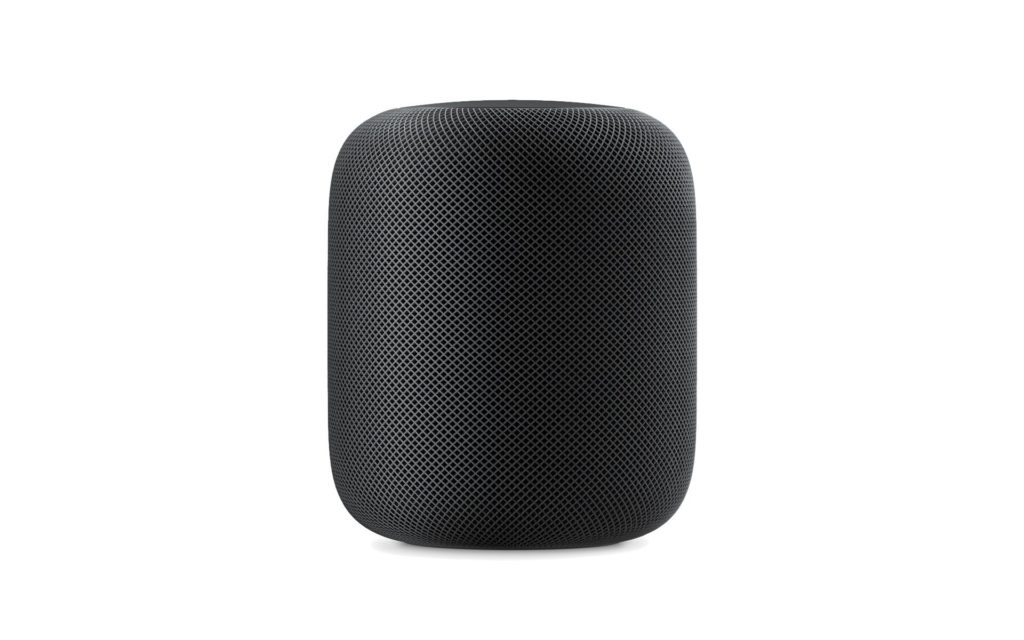 HomePod in Schwarz, Bild: Apple