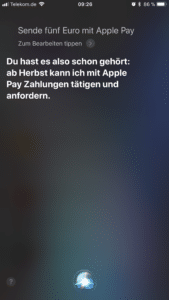 Apple Pay in Deutschland? Bild: Screenshot