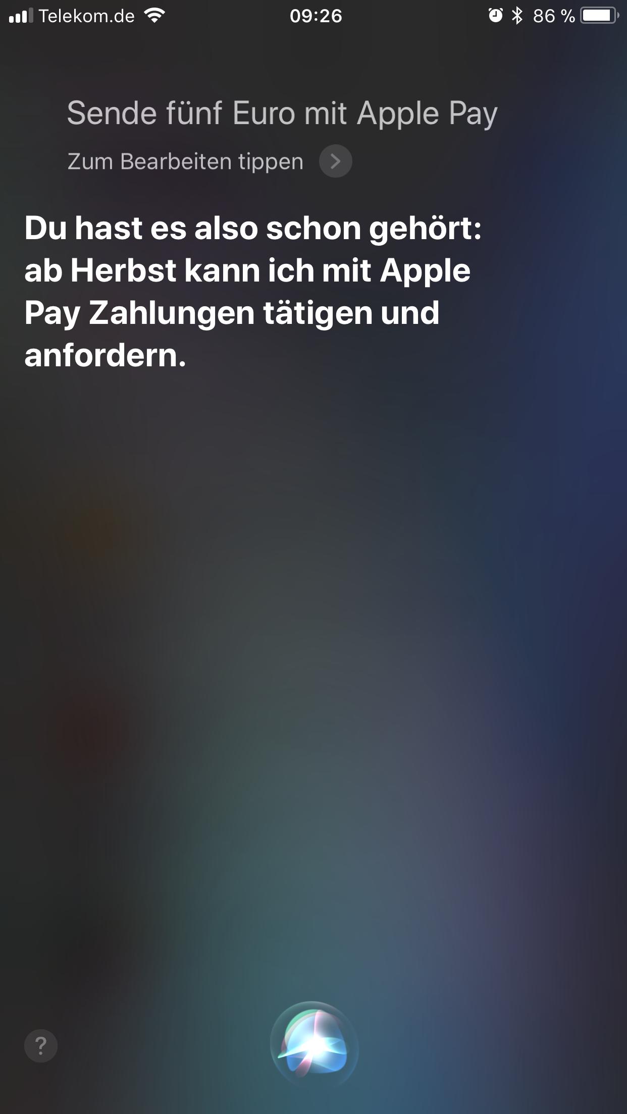 Apple Pay in Deutschland? Bild: Screenshot