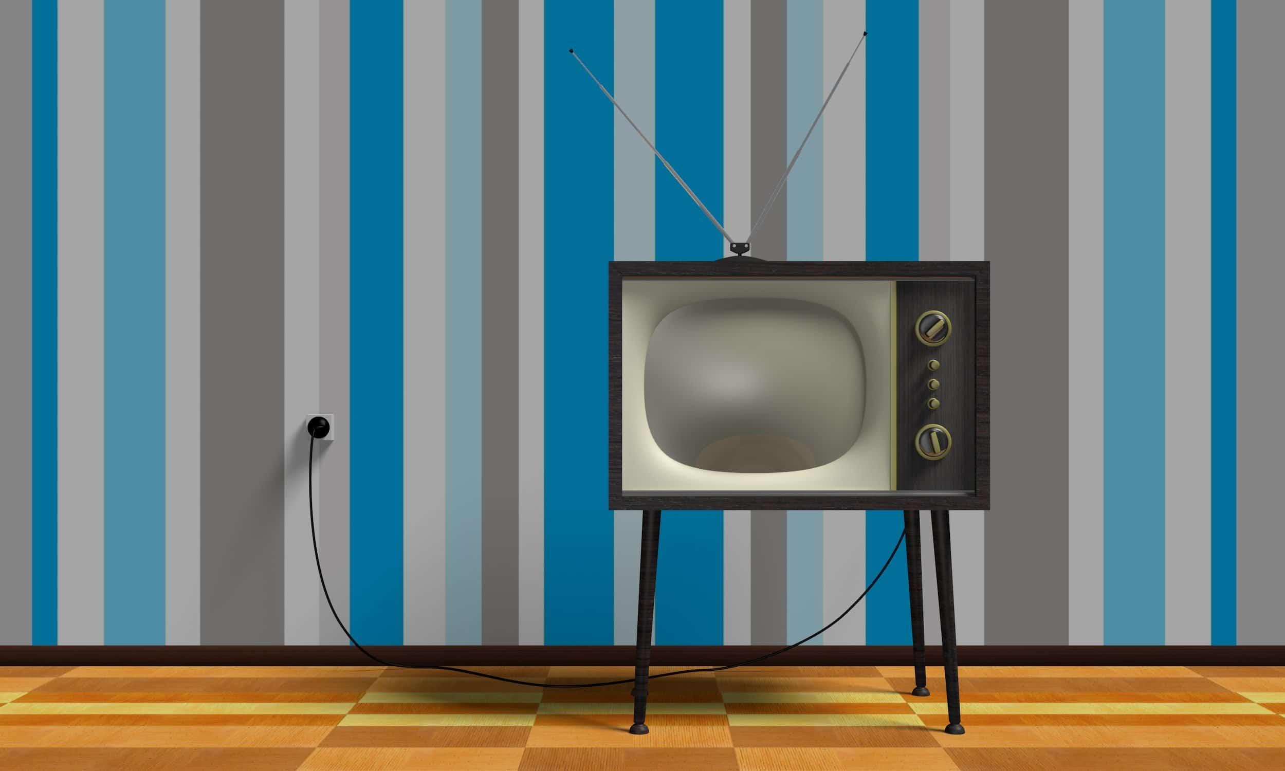 Altes TV-Gerät aus den 1970ern
