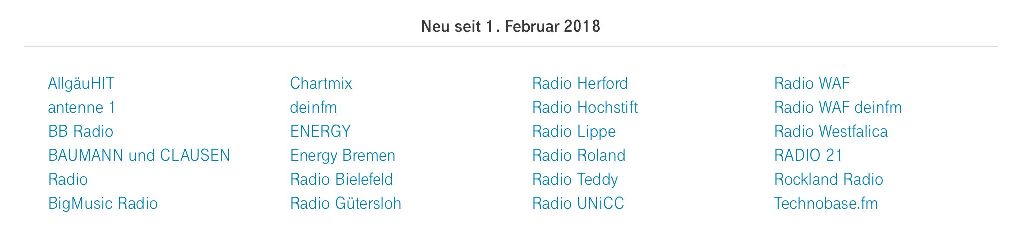 Neu bei StreamOn im Februar 2018 - Deutsche Telekom - Screenshot