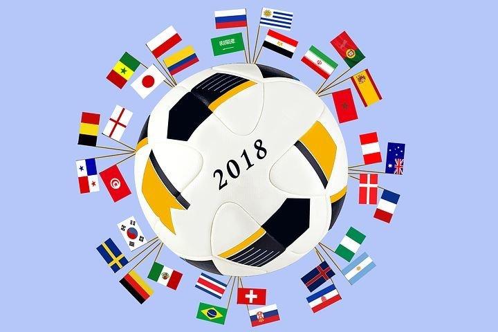 Fußball WM 2018 Thumb – Ball mit Länder Fahnen