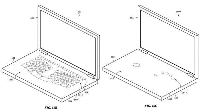 Virtuelle Touch-Keyboard-Elemente - AppleInsider / US-Patent- und Markenamt