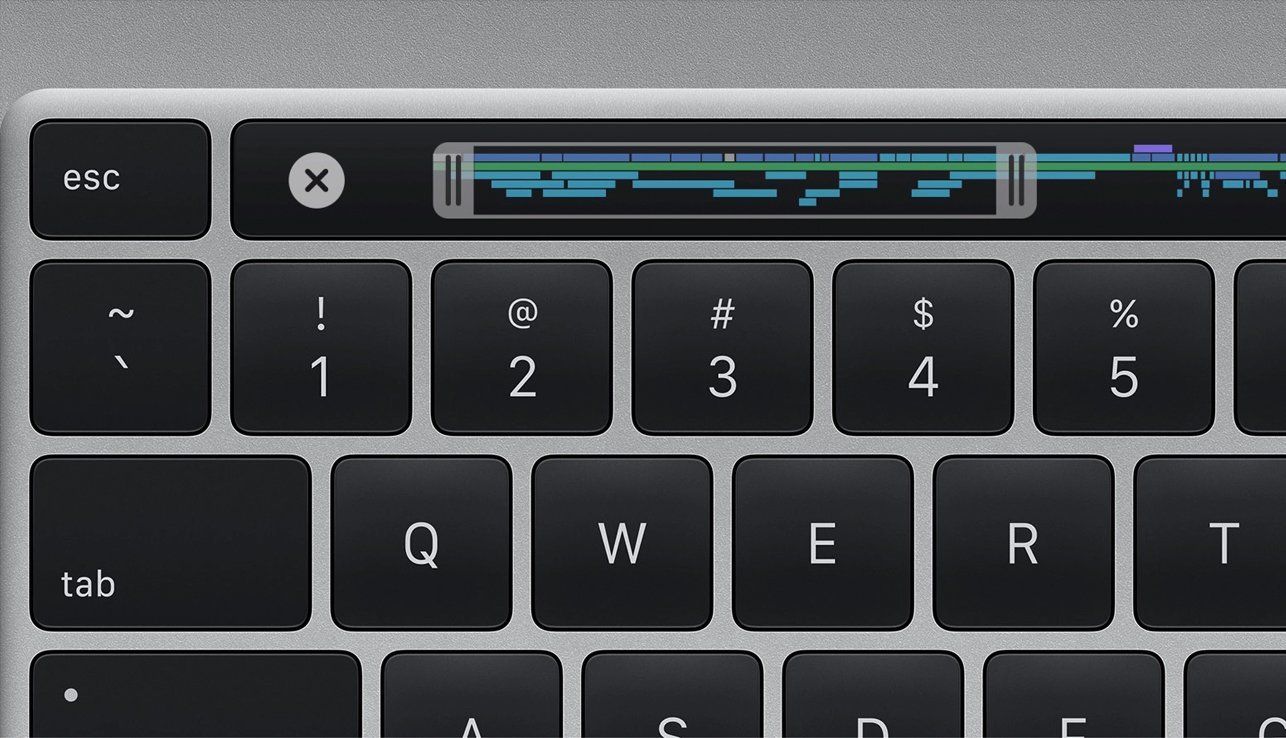Die ESC-Taste beim neuen MacBook Pro 16 Zoll