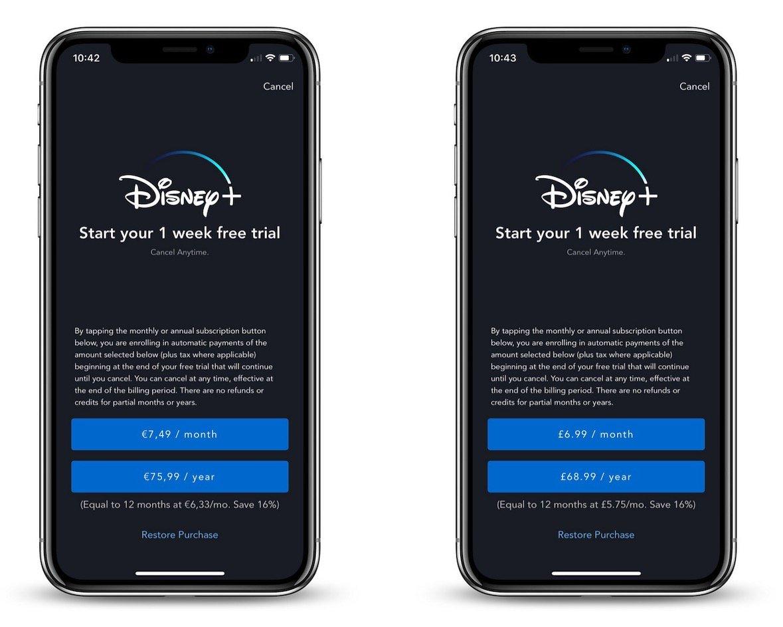 Disney+ auf dem iPhone