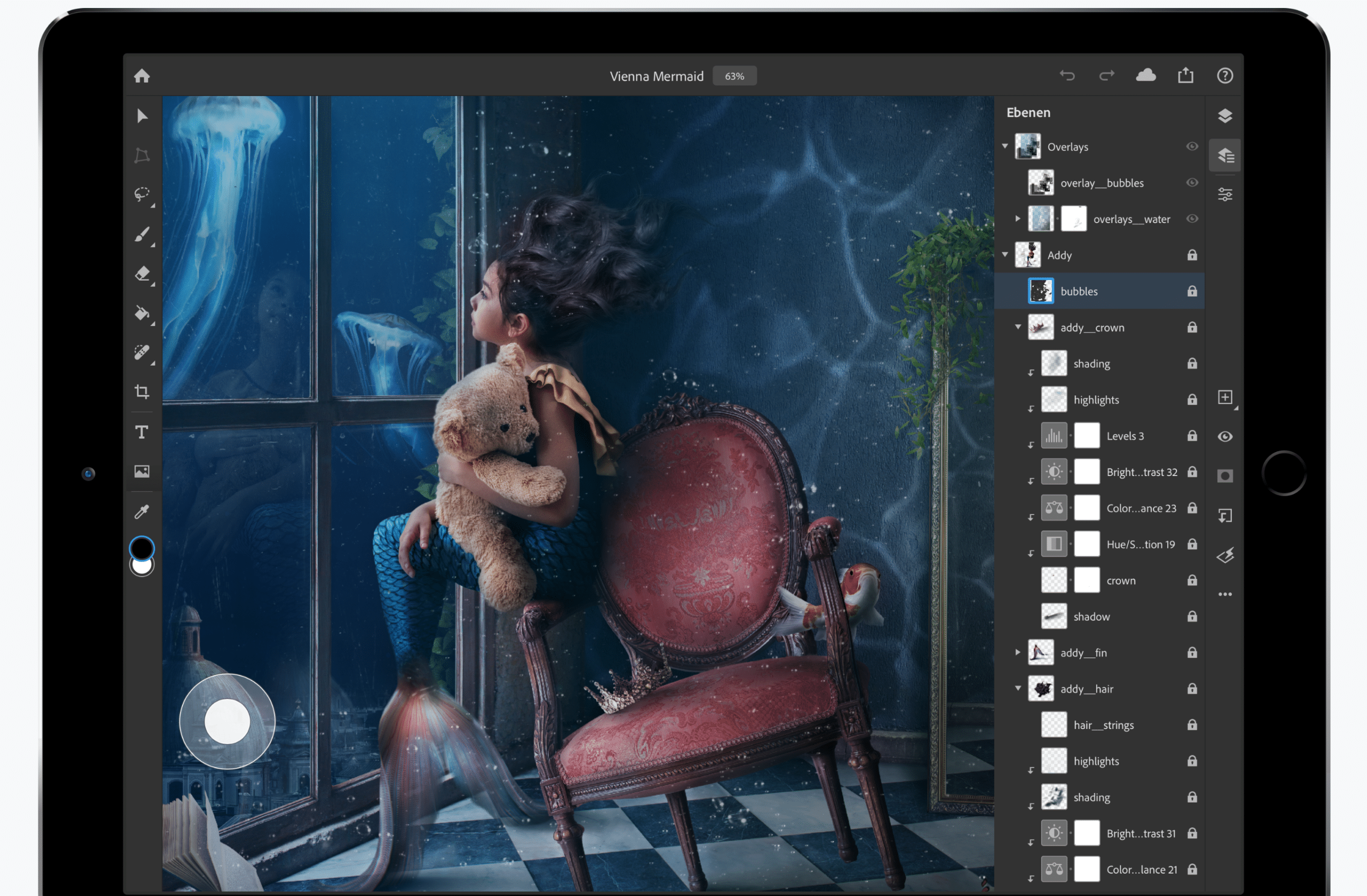 Adobe Photoshop auf dem iPad