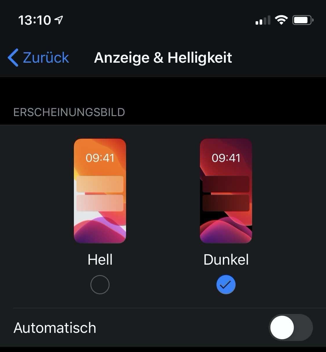Whatsapp Dunkel Iphone